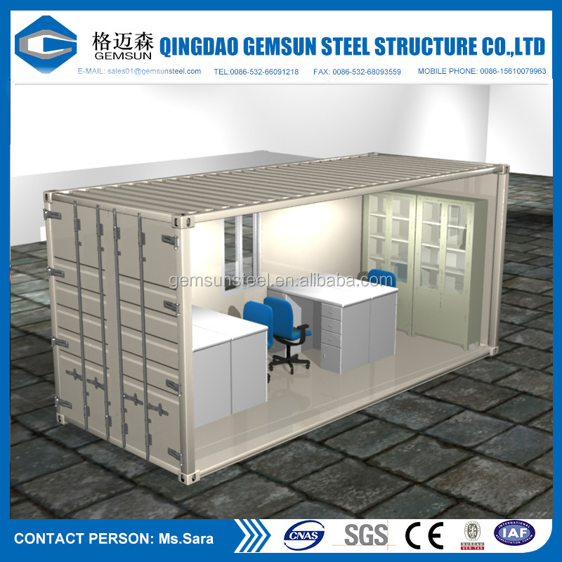 Alibaba China Supplier Prefabricated Houses Building Materials Shipping Container Homes for Sale