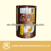 Gravure printing plastic automatic coffee powder roll film/packaging material for coffee