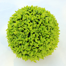 hanging plastic artificial boxwood hedge ball for garden decoration