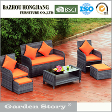 1619S Cheap Rattan Patio Bamboo Modular Sofa Set Outdoor Furniture