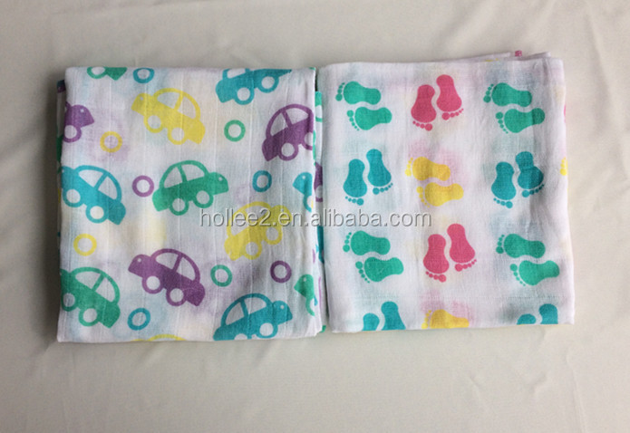 Baby receiving swaddle wrap muslin cloth nappies 100% cotton