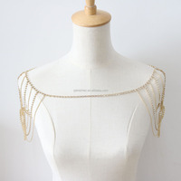 Fashion festival shoulder jewelry,diamond jewelry body chain for women