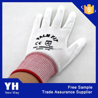 2015 10 gauge latex wrinkle finished cotton napped working glove for warmly winter