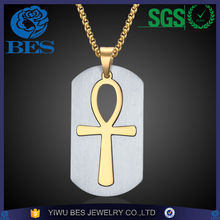 Removable Ankh Necklace Surgical Steel Life Cross Necklace Egyptian Men Jewelry Gold Plated The Key of the Nile Cross Necklace