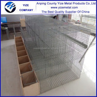 Anpig yize high quality layers mink breeding cage within wooden box ,ISO9001 certificated cheap mink farm, mink cage for sale