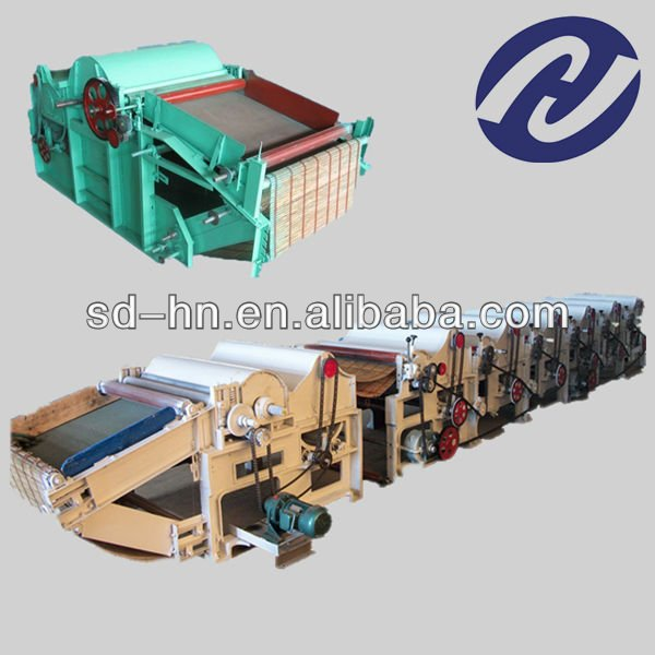 waste recycling machine for knitted hosiery garment/yarn/flax