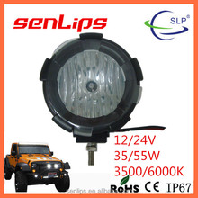 7inch 35w 55w 6000K Hid work light off road Hid work light 12V 24V available