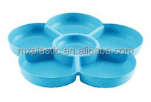 Biodegradable flower shaped bamboo fiber snacks candy plate