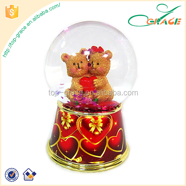 LOVE water ball snow ball souvenir for Valentine's Day