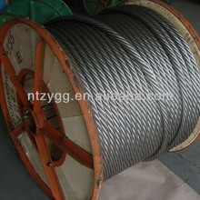 china manufacture hot-dipped zinc coated quality 6x24 galvanized steel wire rope 20mm