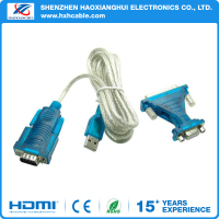 Customized mixed color usb to rs232 cable