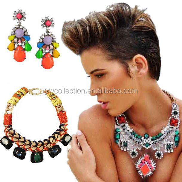 wholesale chunky statement necklace in china, costume jewelry spain, gothic necklace