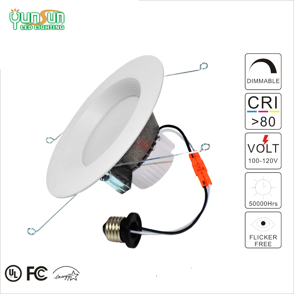 13w 2700k dimmable led downlight 360 degree adjustable, smd 3030 leds aluminum yunsun best products