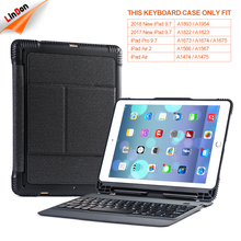 High Quality PU Leather Wireless Bluetooth Keyboard Case For iPad air /air 2/pro 9.7/2017/ 2018, For iPad 9.7 Inch