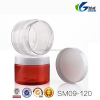 plastic pet cream jar for comesitc use with any color and any capacity you like