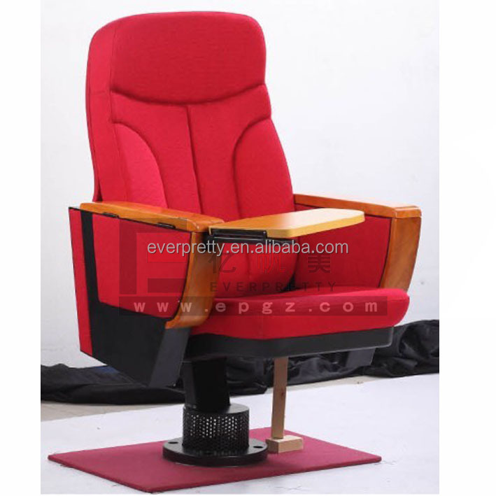 High Back Chairs with Writing Pad, Theater Seats with Tablet Arm, Single Leg Theater Seats Online