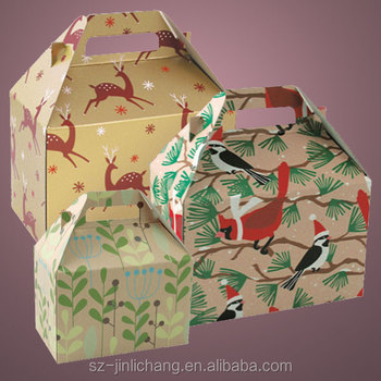 Hot popular good printing gable gift box