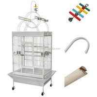 High quality metal wire cage foldable pet cage bird cage flat pack