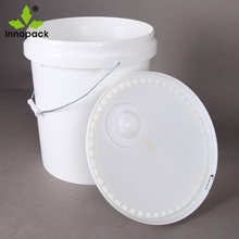 White Stackable packaging plastic oil bucket 20 liter