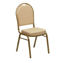 Hot Selling Used Banquet Chairs for Sale/ High Quality Beige Upholstered Stack Dining Chairs