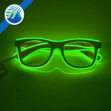Glow Eye Glasses With Voice Control Light Up El Wire Glowing Party Rave Glasses For Halloween,Party Favor