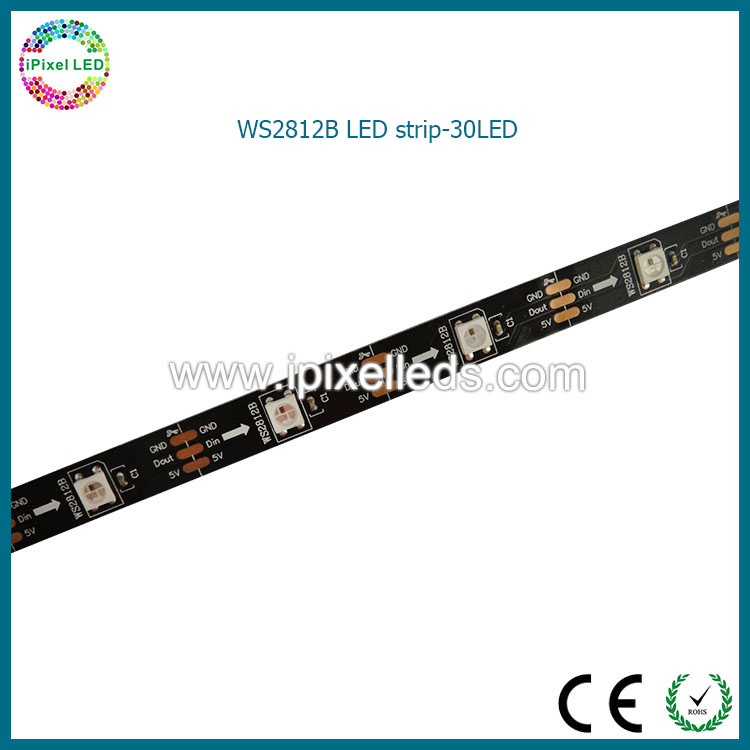 dc5v smd5050 30pcs led, bendable flex ws2812b pixel led strip tape ws2812