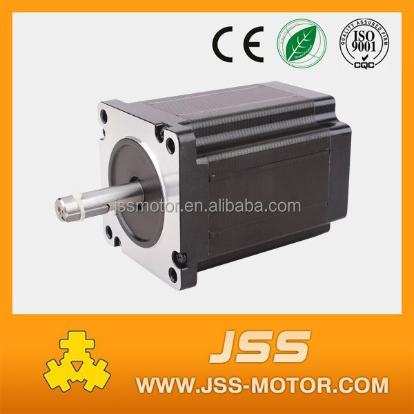 big 86mm 2 phase 4 wired nema 34 stepper motor for cnc machine