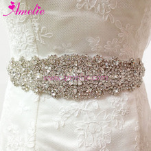 Crystal and Rhinestone Beaded Bridal Dress Belt and Sashes Wedding