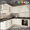 Foshan Narnia high quality white PVC wooden kitchen cupboard kitchen cabinet
