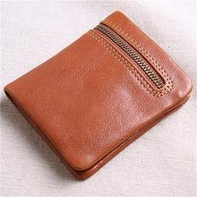 Drop Shipping Wholesale Genuine Leather Blocking Money Clip Wallet Bifold Custom Ultra Thin Slim Wallet Men with Coin Pocket