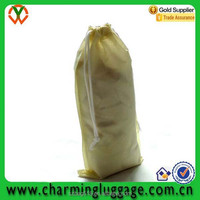 cheap non woven wholesale wine bottle bag/nonwoven drawstring bag