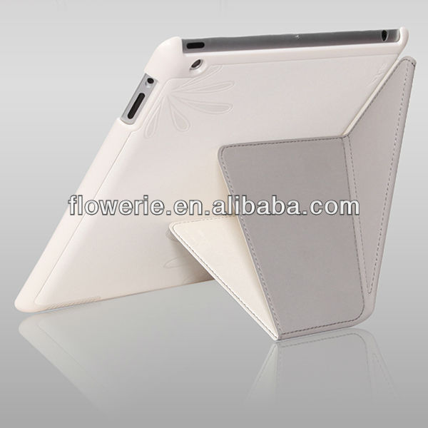 FL2469 2013 Guangzhou flip wallet leather folding smart cover case with stand for ipad 2