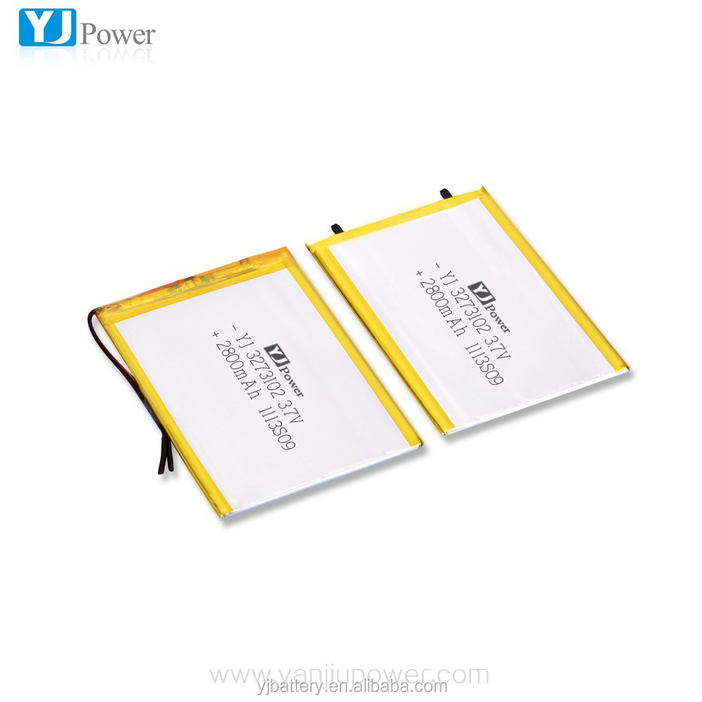 Rechargeable li-polymer battery 3273102 2800mAh 3.7V for Tablet , Toys