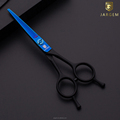 2018 New design blue&black coated barber shears hair shears wholesale