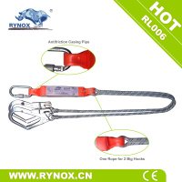 RYNOX RL006 Shock Absorbing Lanyard with two big hooks, 12mm rope for safety harness