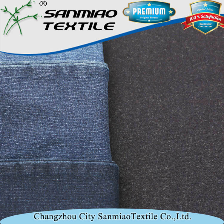4 way stretch fabric cotton spandex french terry for jeans WHCP-3001
