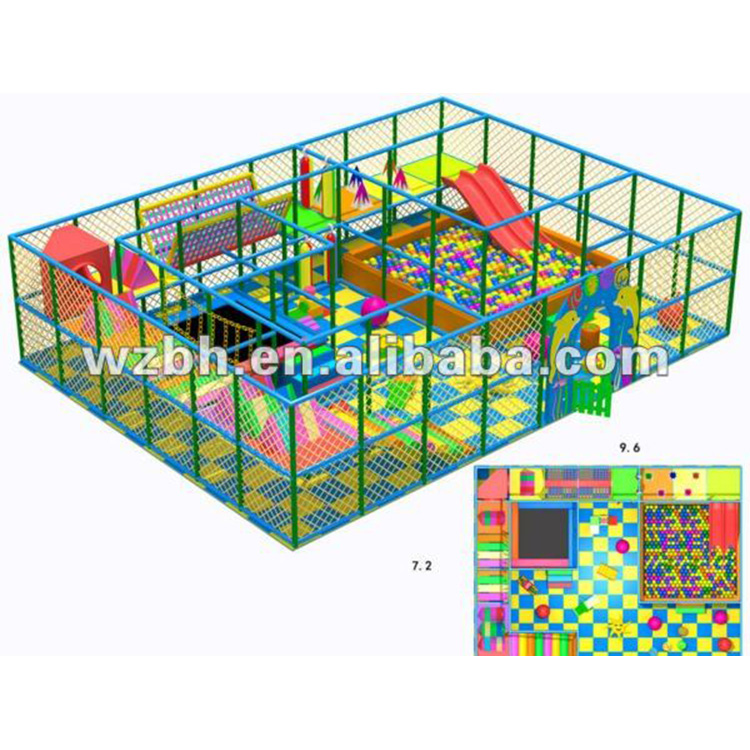 2017 Inflatable Indoor Playground BHID06