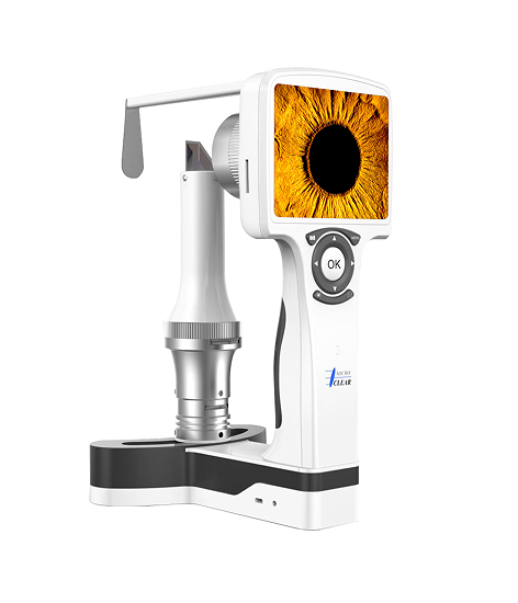 Digital hand held slit lamp/portable anterior diagnosis device