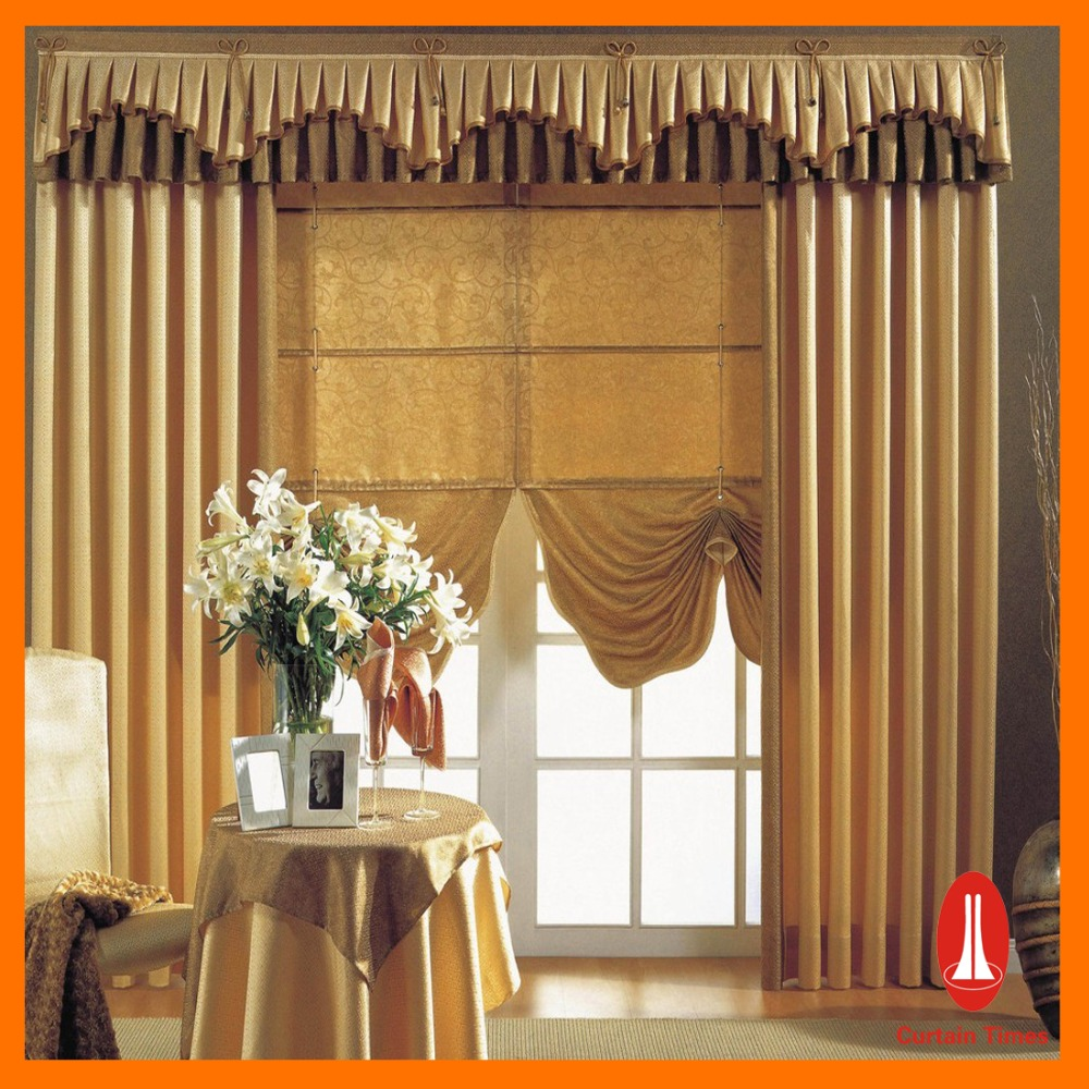 Wholesale customized latest designs curtains window blackout luxury curtain