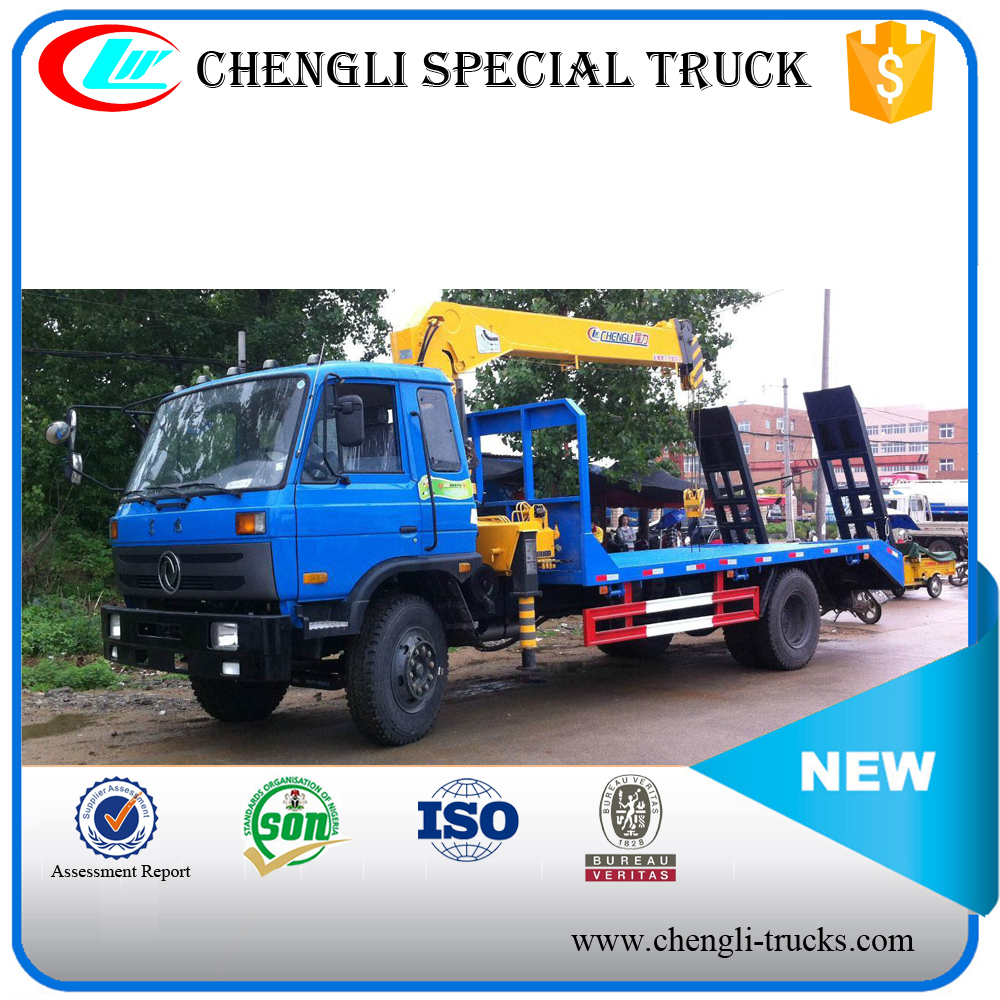 Manufacture DONGFENG 4*2 190hp Crane Truck for Construction Machinery Delivery