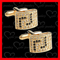 2016 hot sale fashion bulk 18k gold jewelry cufflinks