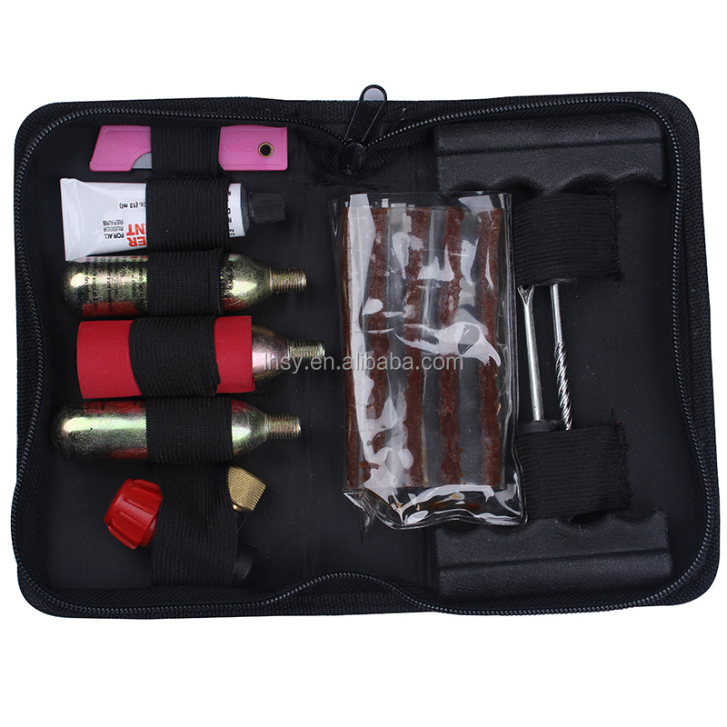 Manufacturer co2 tire repair kit tyre repair tool set for bicycle bike