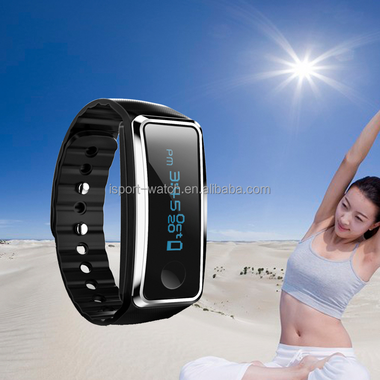 2017 Hot sale fitness tracker bluetooth wristband compatible IOS Android