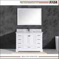 Popular American Style white lacquer bathroom vanity T9311-48W