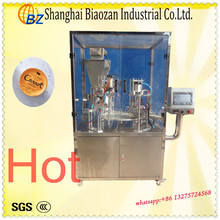 Plastic(paper) cup automatic filling & roll film sealing machine