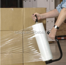 "transparent PE Hand Grade Stretch film pallet Plastic Wrap film18"" X 1500 ft X 80 Gauge"