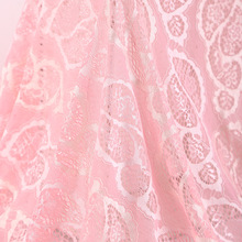 New wholesale pink color lace fabric for garments BK-FB820