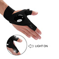 Outdoor Fishing Strap Fingerless Glove Led Flashlights Torch Cover hump Index Finger Gloves