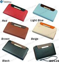 Popular Style For Samsung i9220 Galaxy Note N7000 Wallet Leather Case Cover Pouch, With Money ID Card Holder