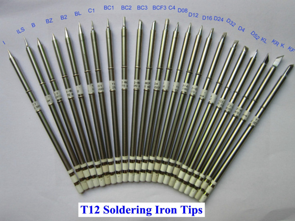 FEITA T12 70W Copper Soldering Iron Tips Solder Heads Lead Free